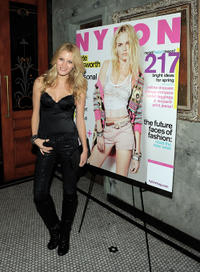 Ashley Hinshaw at the Nylon Magazine's March Issue Celebration in California.