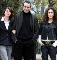 Irene Jacob, Bruno Todeschini and Mimosa Campironi at the photocall of