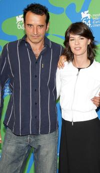 Bruno Todeschini and Irene Jacob at the photocall of