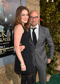 Felicity Blunt and Stanley Tucci at TCL Chinese Theatre for the premiere of
