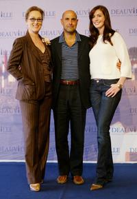 Stanley Tucci, Meryl Streep and Anne Hathaway at the photocall for