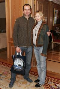 Christian Vadim and Valerie Steffen at the Espace Glamour Chic First Gift Lounge during the Annual Cesar Film Awards.