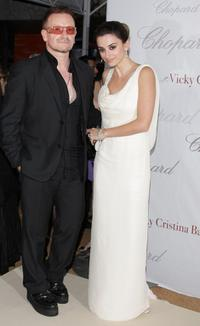 Bono and Penelope Cruz at the Chopard Party during the 61st International Cannes Film Festival.