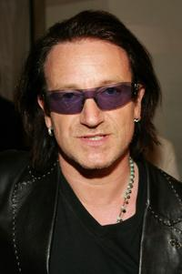Bono talks at an press conference to launch the new EDUN clothing line.