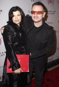 Ali Hewson and Bono at the (RED) Auction On Valentine's Day.