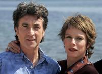 Francois Cluzet and Karin Viard at the photo call of