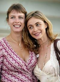 Karin Viard and Emmanuelle Beart at the photocall after the screening of