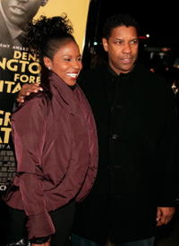 Pauletta Washington and actor Denzel Washington at the L.A. premiere of