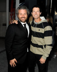 Director Jacob Rosenberg and Danny Way at the California premiere of