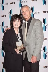 Dennis Weaver and Honoree at the Eighth Annual Prism Awards.