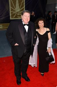 George Wendt and Rhea Pearlman at the NBC's 75th Anniversary Special.