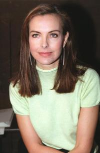 Carole Bouquet at the Karl Lagerfeld's Haute Couture Spring-Summer 2000 collection.