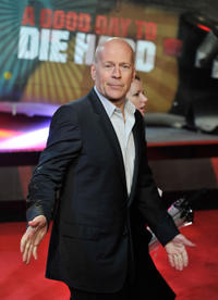Bruce Willis at the UK premiere of