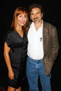 Laurie Metcalf and Dennis Boutsikaris at the photocall of