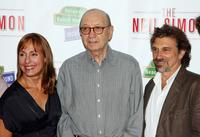 Laurie Metcalf, Neil Simon and Dennis Boutsikaris at the photocall of