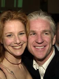 Debra Winger and Matthew Modine at a party of the IFC Films Release