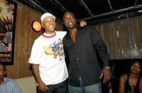 Russell Simons and Malik Yoba at the pre-launch party for the Hip-Hop Team Vote Get Out The Vote Tour.