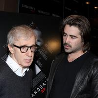 Woody Allen and Colin Farrell at the New York screening of
