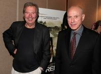 Alan Arkin and New Line Cinema Co-chairmen and Co-CEO Bob Shaye at the premiere of