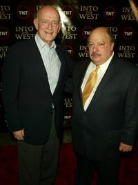 Peter Boyle and William Mastrosimone at the premiere of