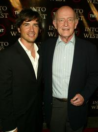 Peter Boyle and Matthew Settle at the premiere of
