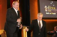 Klaus Maria Brandauer and Istvan Szabo at the Deutsches Theater for the Diva Awards.