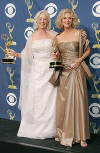 Jane Alexander and Blythe Danner at the 57th Annual Emmy Awards.