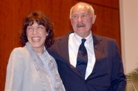 Dabney Coleman and Lily Tomlin at the retro premiere of
