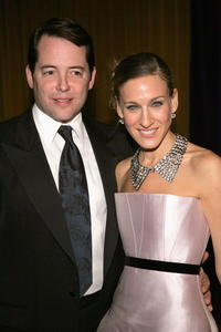 """Matthew Broderick and Sarah Jessica Parker at the after party for the opening night of """"The Odd Couple"""" in New York City."""