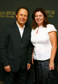 Billy Crystal and Gina Riley at the opening of the Dominique Cohen Flagship Jewelry Store.