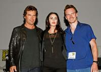 Josh Brolin, Megan Fox and Michael Fassbender at the panel discussion for