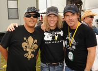Ivan Neville, David Bryan and Josh Brolin at the 2009 New Orleans Jazz and Heritage Festival.