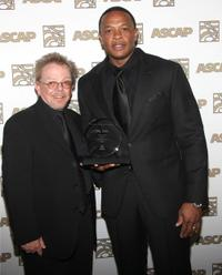 Paul Williams and Dr. Dre at the 23rd Annual ASCAP Rhythm and Soul Music Awards.