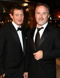 Jason Flemyng and David Fincher at the premiere of