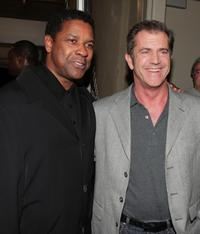 Mel Gibson and Denzel Washington at the industry screening of