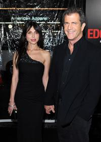 Oksana Grigorieva and Mel Gibson at the California premiere of
