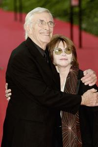 Lee Grant and Martin Landau at the Actors Studio red carpet on the sixth day of Rome Film Festival.
