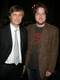 Lasse Hallstrom and Screenwriter William Wheeler at the after party of the premiere of
