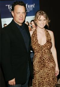 Tom Hanks and Alice Eve at the New York screening of