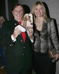 Barry Humphries and Lizzie Spender at the launch of her book