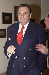 Barry Humphries at the Charles Conder's official opening exhibition.