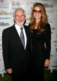 Norman Jewison and guest at the Cocktails and Tribute Dinner held during the Sarasota Film Festival.