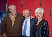 Norman Jewison, William Goldman and Olympia Dukakis at the Monday Nights With Oscar 20th Anniversary of