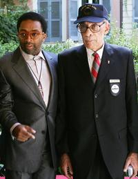 Spike Lee and William Perry at photocall of the film