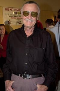 Stan Lee poses at a preview for the Hollywood Christmas Parade.