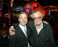 Stan Lee and Matt Tolmach at the after-party for the premiere of