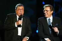 Jerry Lewis and Steve Lawrence at the 39th Annual Jerry Lewis MDA Labor Day Telethon.