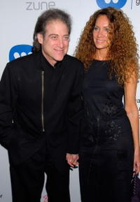 Richard Lewis and Joyce Lapinsky at the Warner Music Group's 2007 Grammy Party.