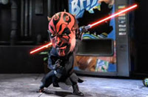Yoda Battles Darth Maul in Lipton Brisk Commercial and Do You Want to Eat This Darth Vader Burger?... No, You Don't.