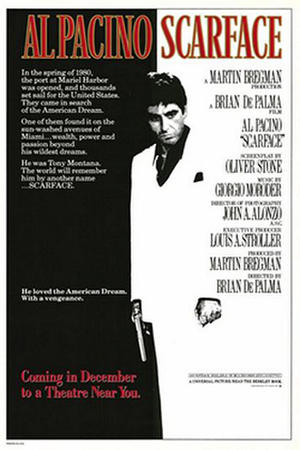 "Poster art for ""Scarface."""